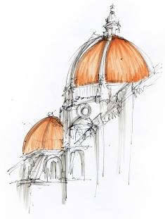 Free sketch - Santa Maria del Fiore (Duomo in Siena)