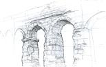 Free sketch - Acqua Claudia (Rome)