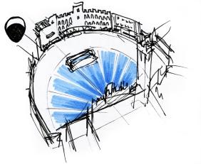 Free sketch - Piazza del Campo (Siena)