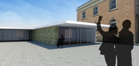 Community Center Via Mare Entrance