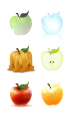 Six interpretations of apples (Medium: Photoshop)