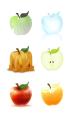 Six interpretations of apples (Medium: Photoshop)