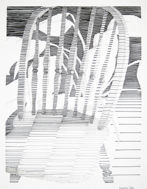 Implied Line (Pen on Bristol Paper)